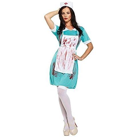 Disfraz Enfermera Zombie LADIES ZOMBIE NURSE BLOODY Halloween Carnaval COSTUME THE WALKING DEAD CHEAP