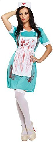 LADIES ZOMBIE NURSE BLOODY HALLOWEEN FANCY DRESS COSTUME OUTFIT THE WALKING DEAD SCRUBS CHEAP 00337 by (Zombie Kostüme Womens)