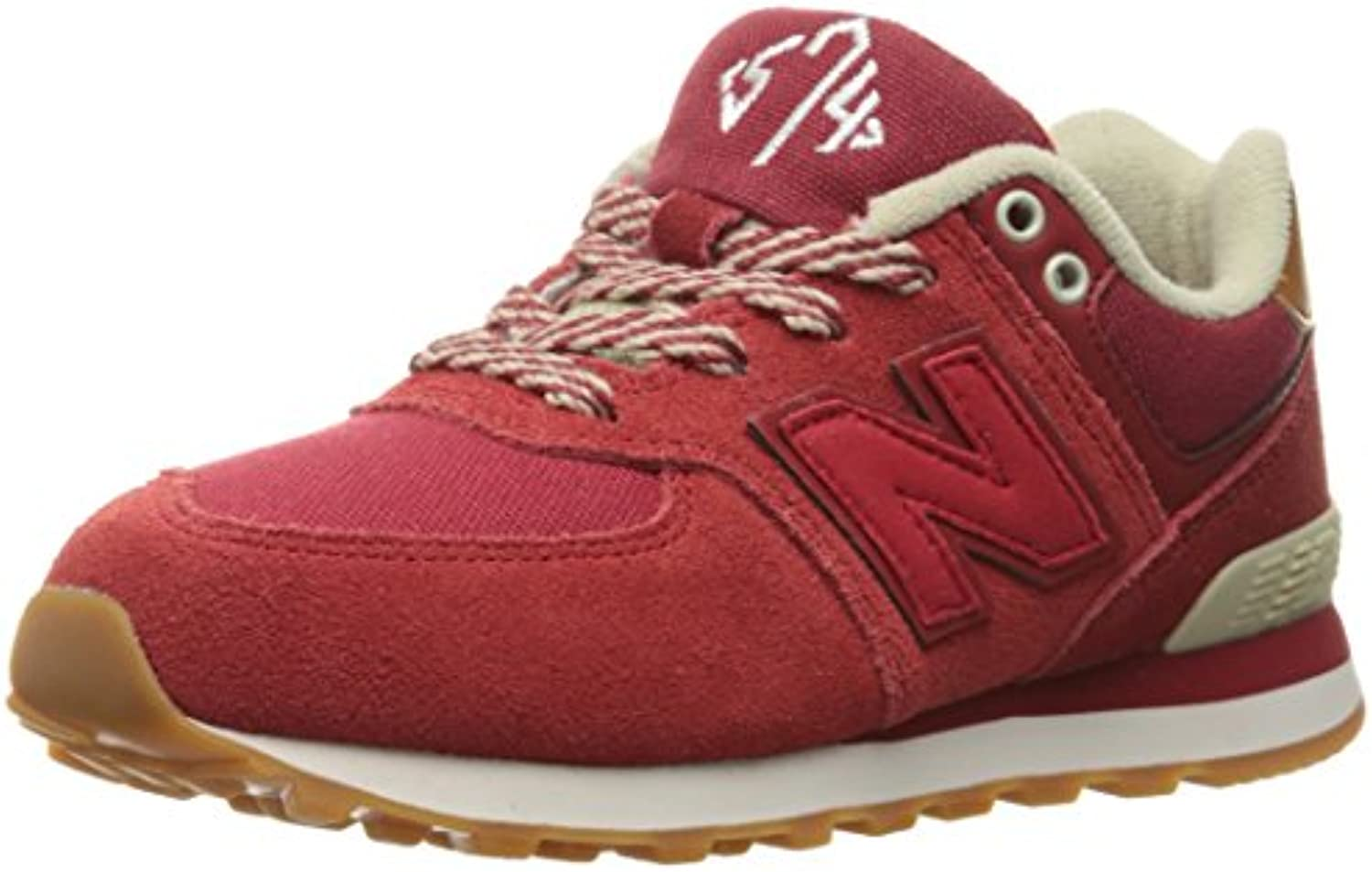 New Balance Youths 574 Collegiate Suede Trainers