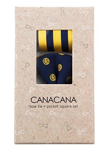 Canacana - Nœud papillon - Motifs - Garçon Bleu - Navy Blue and Yellow