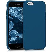 kwmobile Funda para Apple iPhone 6 / 6S - Case para móvil de TPU silicona - Cover trasero en azul oscuro