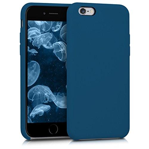 Galleria fotografica kwmobile Apple iPhone 6 / 6S Cover - Custodia per Apple iPhone 6 / 6S in silicone TPU - Back Case cellulare blu scuro