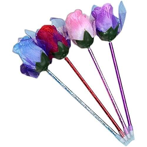 material para la escuela kawaii Cdet 9X Bolígrafo plumas iindo simulado rose bolígrafo plumas creativas moda oficina suministros escolares precioso papelería Kawaii pluma chica para la escritura
