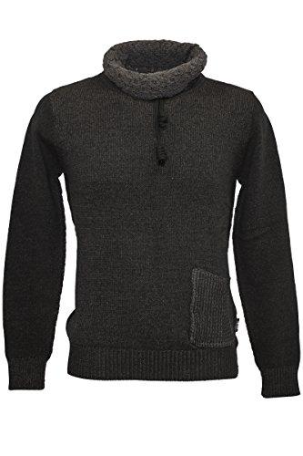 Indicode Knit-Wear Baumwoll-Rollkragen Pullover Schwarz