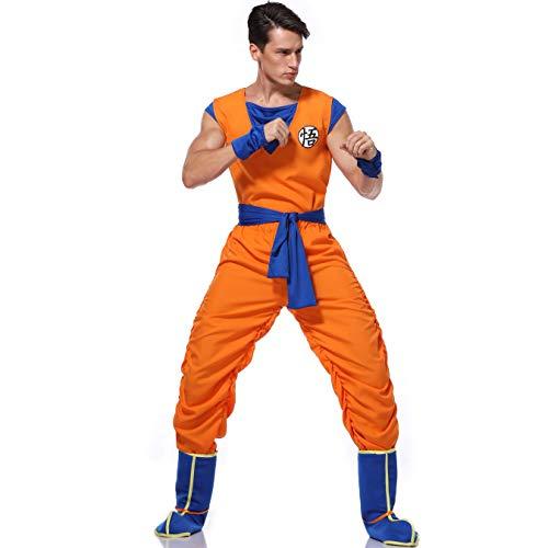 Story of life Spiel Uniformen, Theater Kostüme, Trainings Kleidung Für Halloween Männer, Anzüge Für Erwachsene Europäische Und Amerikanische,Orange,M