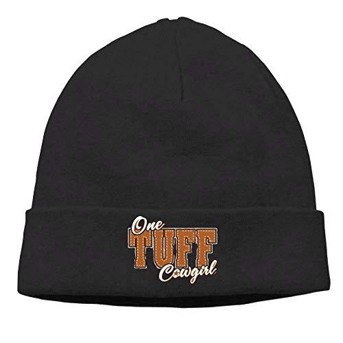 Funny Beanies Momen One Tuff Cowgirl Classic Street Dance Black Beanies Tough Headwear (Toe Tuff Baseball)
