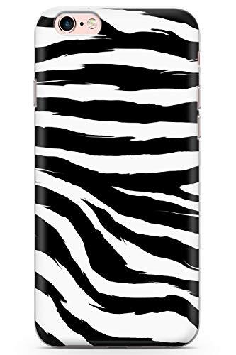 Case Warehouse iPhone 6 / 6s Schwarzer Zebra-Druck Schutz Gummi Handyhülle TPU Bumper Tierdruck Katze Wild Zebra Gepard