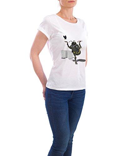 "Design T-Shirt Frauen Earth Positive ""To Bee or Not Too Bee (wordless)"" - stylisches Shirt Tiere Natur von Rob Snow Weiß"