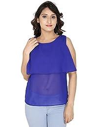 Gugg Women's Self Design Top [GS16A84_BLUE]