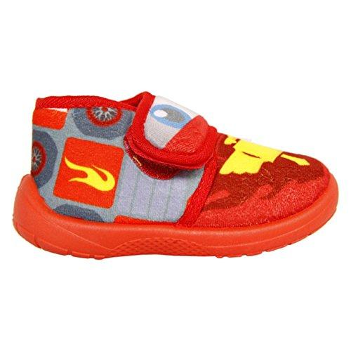 Disney Zapatillas de Estar por Casa Cars - Rayo Mcqueen Rojo EU 24