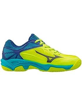 Mizuno - Zapatillas de Tenis de Material Sintético para niño