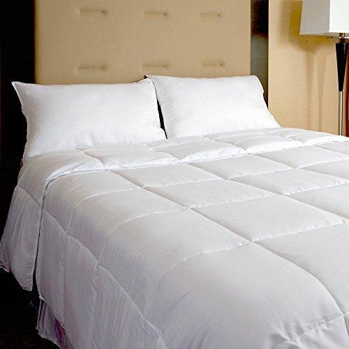 Cardinal & Crest Leicht ganzjährig Bettbezug Einfügen-Weiß Hypoallergen Down Alternative Tröster, Weiß, King/California King -