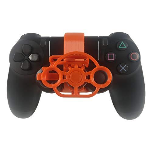 PS4 Mini-Lenkrad, PS4-Controller, Ersatzzubehör für alle PS4-Rennspiele Orange