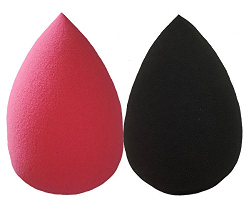 Essencell Cosmetic Pro Makeup Beauty Blender Éponges 2pc Pack - Facilement Blend Liquid Foundation, Highlight et Contour-Flawless Sponge Applicateur