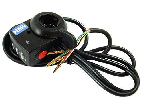 Price comparison product image Hmparts Thumb Throttle with Charge Display & Turbo - 6-polig - 48 V - E-Scooter / E-Bike Hallgeber
