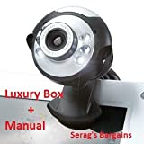 USB Webcam 20MP 6 LED 20 MegaPixel Web Cam, Built-in Microphone Mic for Laptop PC Vista windows 7 Windows & Mac - Skype, MSN, Yahoo, iChat