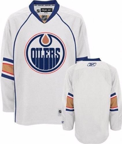 NHL Eishockey Trikot/Jersey EDMONTON OILERS white in L (LARGE)
