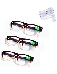 2 occhiali da lettura Occhiali moda presbiopia Occhiali di sicurezza Occhiali per anziani Occhiali leggeri Anti-Eye Fatigue Ridurre l'affaticamento visivo Leggeri gradi di lettura,2.5