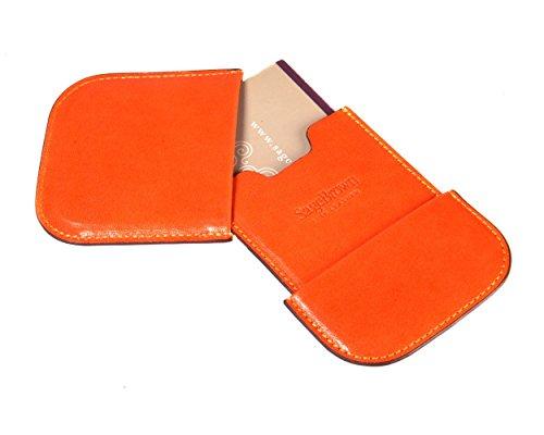 Business Orange Card Holder (SageBrown Orange Pull Apart Business Card Holder)