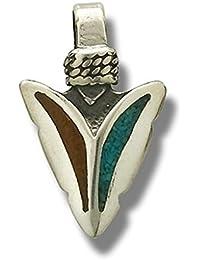 Indianerschmuck Anh/änger T/ürkis Kreuz Westernschmuck Navajo Style T/ürkisanh/änger
