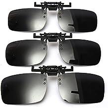 Aptoco polarisierte verspiegelte Gläser, klassische Sonnenbrille, Wechselrahmen-Brille, mit UV-Schutz, Blendschutz zum Fahren, Angeln, für Damen und Herren, gelb, S
