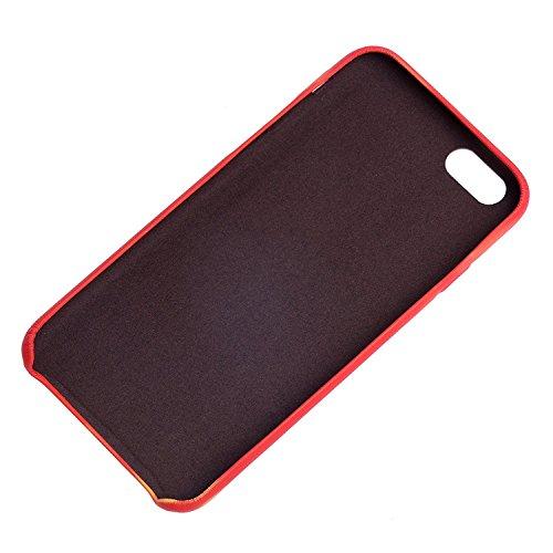 Magical Design Thermal Induction Discoloration Coque pour iPhone 6/6s,Premium PU Cuir Housse Changement de Couleur Fluorescent Matte Surface Back Cover pour Apple iPhone 6/6s(Verte handprint) Jaune