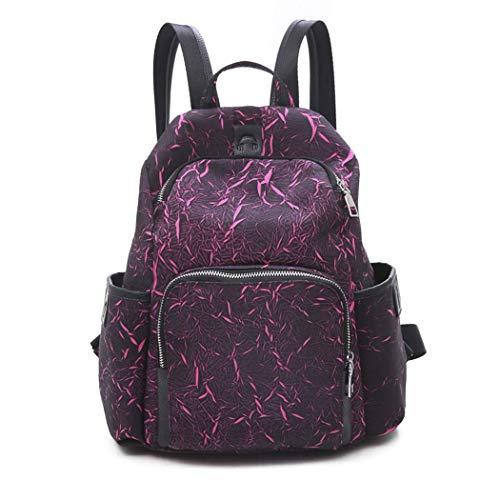 YHWGV Frauen Rucksack, Damen Rucksack wasserdichtes Leder leichte Schultasche stilvolle Daypack Satchel -