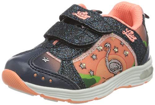 Lico Mädchen Flamingo V Blinky Sneaker, Blau (Marine/Lachs Marine/Lachs), 29 EU
