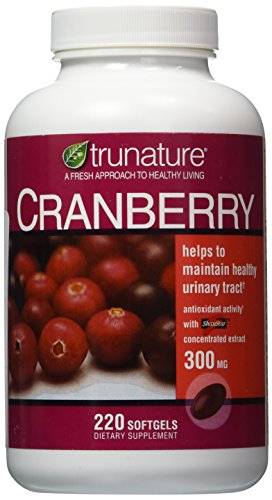 TruNature Cranberry 300 mg with Shanstar Concentrated Extract - 220 Softgels(US Version...
