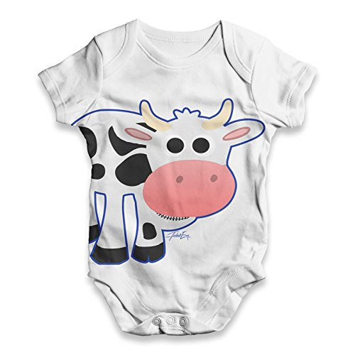 TWISTED ENVY Fat Cow Baby Unisex Funny All-Over Print Bodysuit Baby Grow Baby Romper