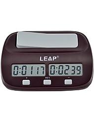 Echecs minuteur, Hikeren Audio horloge électronique Compteur d'échec Jeu Count Chronomètre Minuteur d'échecs et Fonction d'alarme, Applicable à la Maison et les Compétitions