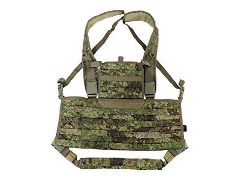 BE-X Modulares Chestrig / Kampfmittelträger / Chest Harness, für MOLLE - PenCott Greenzone