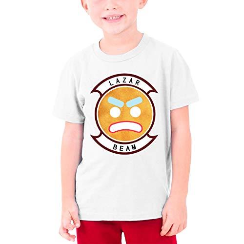 Jugend Mädchen Jungen Sommer T-Shirt Lazarbeam T Shirt Casual Shirts für Jugendliche Mädchen Jungen Kurzhülse Kleidung Weiß XL -