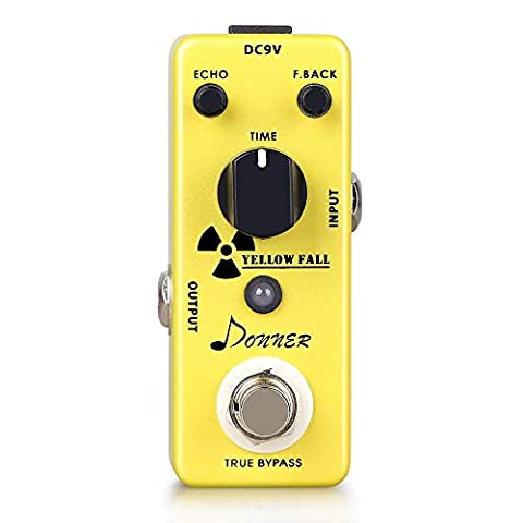 Pedale De Distortion - Donner Pédale d'effet Guitare Delay Yellow Fall