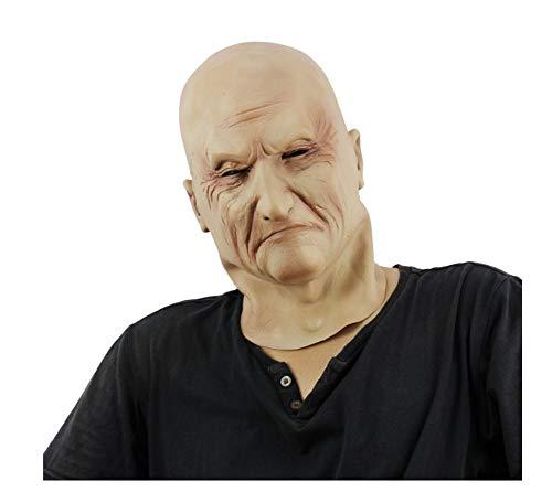 Zombie Kostüm Tipps - wanjuna Halloween Latex Kopf Maske Gruselige Zombie Kostüm Cosplay Requisiten Glatzkopf Maske Neuheit Kostüm Party Latex Kopf Maske Mensch