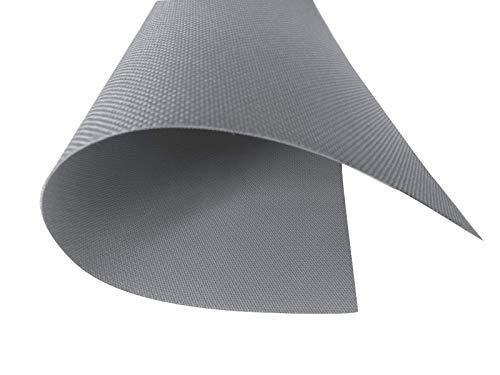Polyester Oxford 600D 1lfm Meterware Wasserdicht 19 Farben Wählbar Indoor Outdoor Stoff Segeltuch Canvas Abdeckplane Wasserabweisend (1lfm=150cmx1m) (Grau)