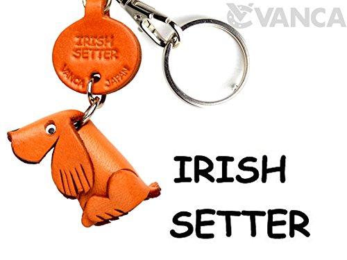 Irish Setter Leder Hund klein Schlüsselanhänger Vanca Windhund Schlüsselanhänger Made in Japan (Schlüsselanhänger Setter)