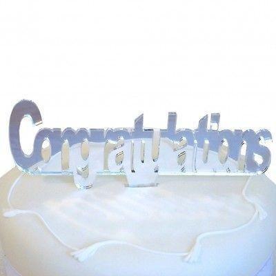 Decoración para tarta para celebrar con estilo con esta celebración. Acrílico inastillable. Completamente seguro para niños. Tamaño-10x 12cm (incluye pincho) texto Altura 6cm