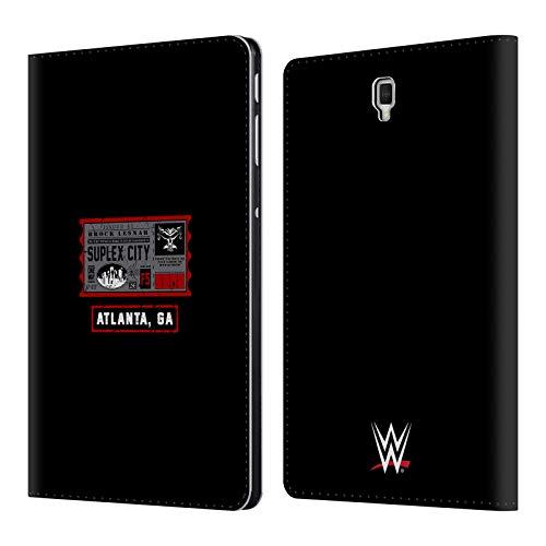 Head Case Designs Offizielle WWE Brock One Way Ticket Atlanta 2018/19 Superstars Leder Brieftaschen Huelle kompatibel mit Samsung Galaxy Tab S4 10.5 (2018) (Wwe Tickets)