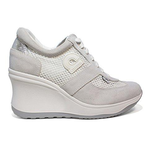 Agile By RucolineSneaker weiß gepiercte Frau mit hohem Keil Artikel 1800 A Soft White Chambers neues Frühjahr Sommer 2018 Kollektion (40)
