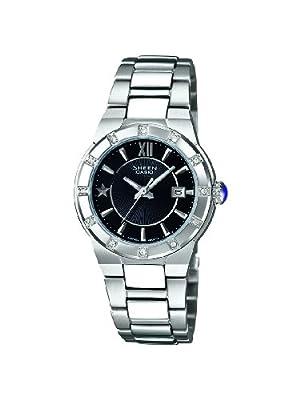 SHEEN SHE-4500D-1AEF - Reloj analógico de cuarzo para mujer, correa de acero inoxidable color plateado de SHEEN
