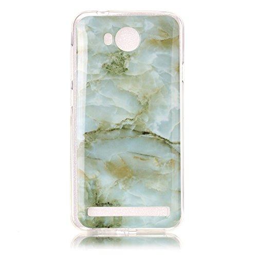 Wkae Case Cover Marble motif en pierre souple pour Huawei Y3 II IMD hybride TPU lisse Soft Silicnone de protection arrière coque pour Huawei Y3 II ( Color : 5 , Size : Huawei Y3 II ) 3