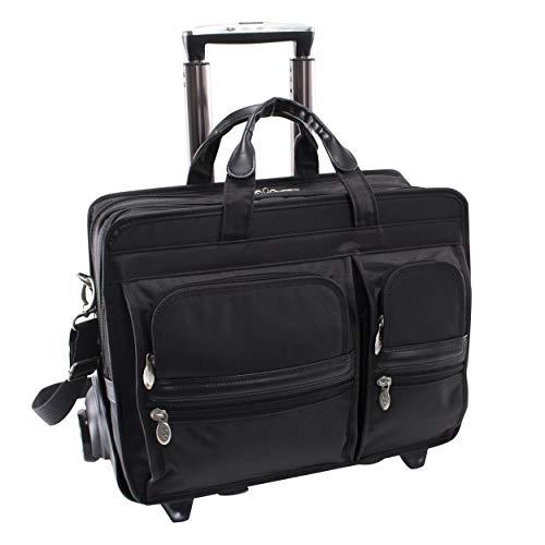 McKlein Herrentasche Laptoptasche Taschen auf Rädern 2in1 System Clinton Nylon 17