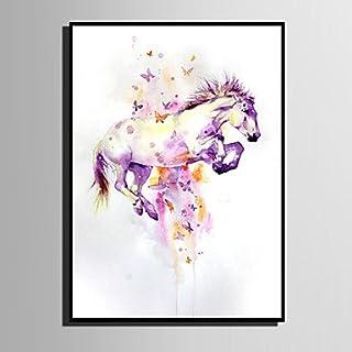 Xuanku E-Home® Lienzo Enmarcado Arte El Colorido Springendes Pferd Thema Serie Lienzo Enmarcado Seite Drucken Una Pc, 20