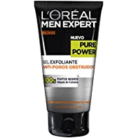 L'Oreal Paris Men Expert Gel Exfoliante Anti Poros Obstruidos Pieles Rebeldes Pure Power - 150 ml