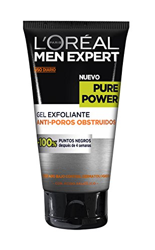 LOreal-Paris-Men-Expert-Gel-Exfoliante-Anti-Poros-Obstruidos-Pieles-Rebeldes-Pure-Power-150-ml