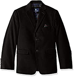U.S. POLO ASSN. Boys Sport Coat, CDM1010J-Corduroy-Black, 10