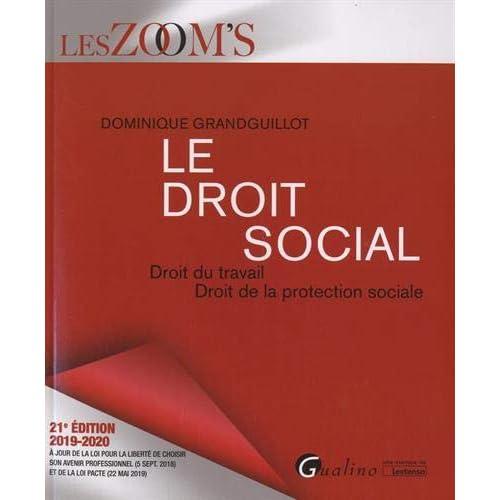 Le droit social : Droit du travail ; Droit de la protection sociale