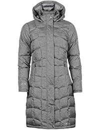 Karrimor Womens Long Down Jacket Coat Top Chin Guard Hooded Zip Full Fur Trim