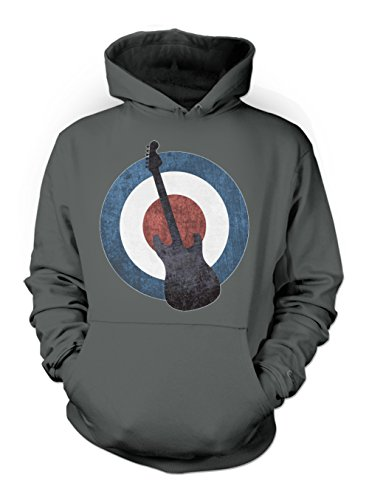 Mod Culture Guitar Rock Punk Herren Hoodie Sweatshirt Schiefergrau Medium Mod Zip-hoody